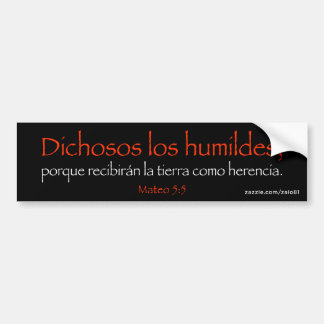 Mateo 5:5 bumper sticker