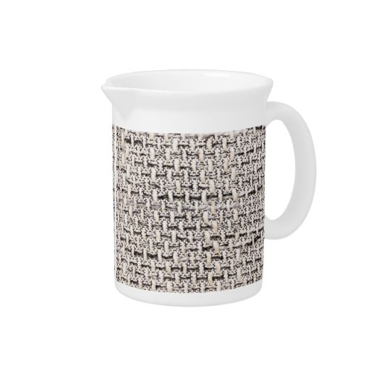 Material background beverage pitchers
