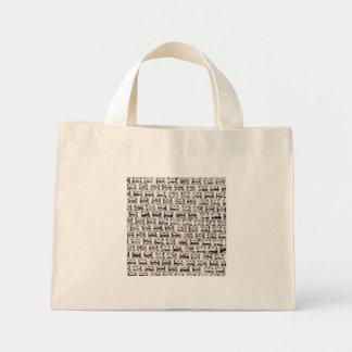 Material background mini tote bag
