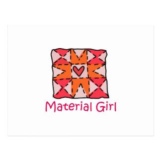 Material Girl Postcard