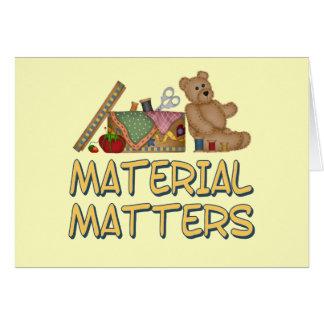 Material Matters Greeting Card