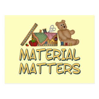 Material Matters Sewing Humor Postcard