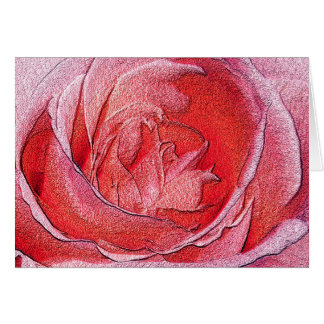 Materialized Red Rose - Computer generated effect Greeting Card