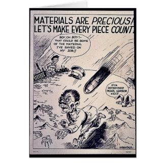 Materials Are Precious Greeting Card