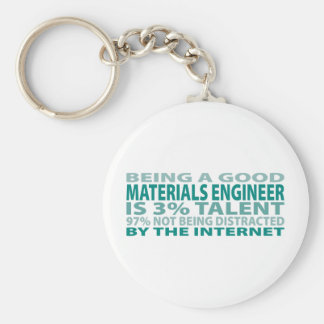 Materials Engineer 3% Talent Basic Round Button Key Ring