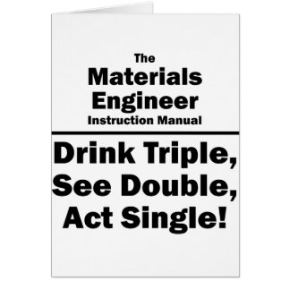 materials engineer note card
