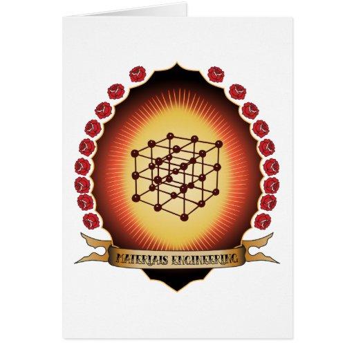 Materials Engineering Mandorla Greeting Cards