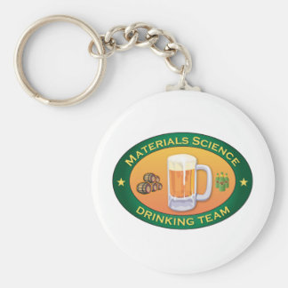 Materials Science Drinking Team Basic Round Button Key Ring