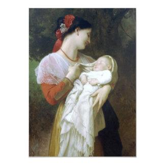 Maternal Admiration by William Adolphe Bouguereau 11 Cm X 16 Cm Invitation Card