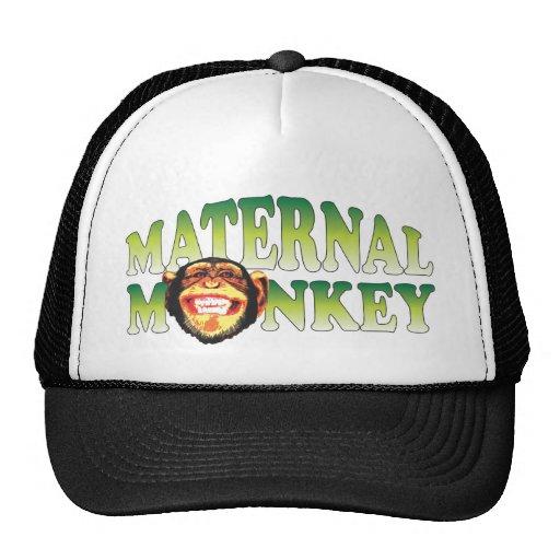 Maternal Monkey Trucker Hats