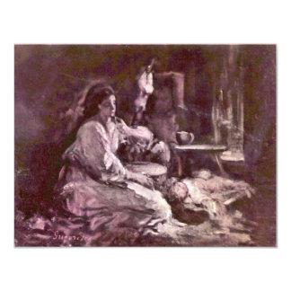 Maternity By Grigorescu Nicolae (Best Quality) 11 Cm X 14 Cm Invitation Card