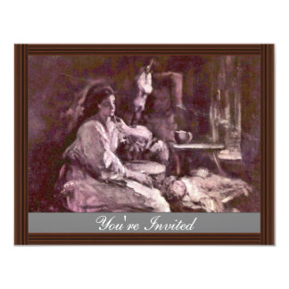 "Maternity By Grigorescu Nicolae (Best Quality) 4.25"" X 5.5"" Invitation Card"