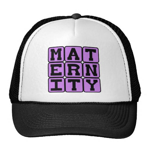 Maternity, Pregnant With Child Trucker Hats