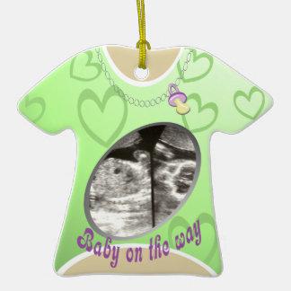 Maternity Shirt green Christmas Ornament