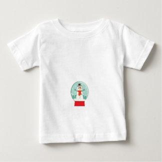 Maternity Snow Globe Snowmen Pregnancy baby shower Baby T-Shirt