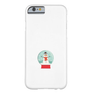 Maternity Snow Globe Snowmen Pregnancy baby shower Barely There iPhone 6 Case