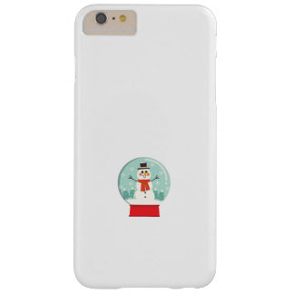 Maternity Snow Globe Snowmen Pregnancy baby shower Barely There iPhone 6 Plus Case