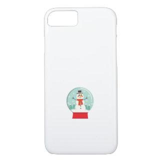 Maternity Snow Globe Snowmen Pregnancy baby shower iPhone 8/7 Case