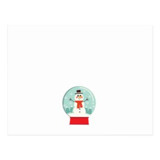 Maternity Snow Globe Snowmen Pregnancy baby shower Postcard