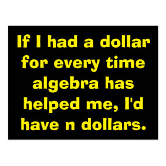 Math Algebra Postcards