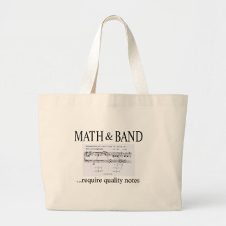 math and band revision large tote bag