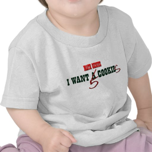 Math and Cookie Genius T-shirts