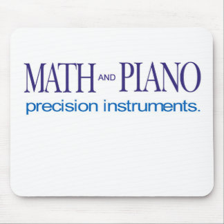 Math and Piano _ precision instruments Mouse Pad