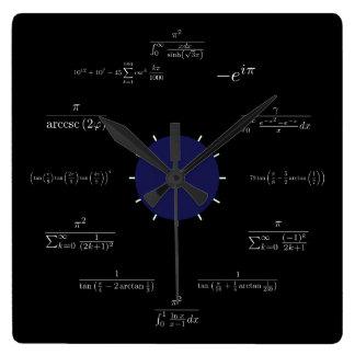 Math (black) wall clocks
