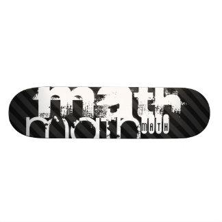 Math; Black & Dark Gray Stripes 21.3 Cm Mini Skateboard Deck