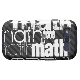 Math; Black & Dark Gray Stripes Galaxy S3 Covers