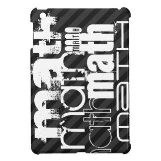 Math; Black & Dark Gray Stripes Cover For The iPad Mini