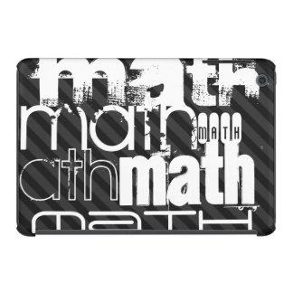 Math; Black & Dark Gray Stripes iPad Mini Case