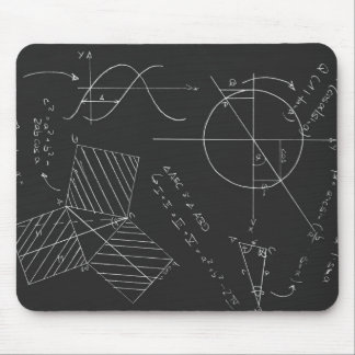Math blackboard mouse pad