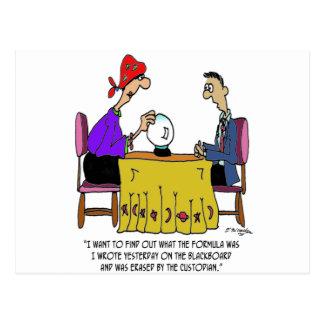 Math Cartoon 6487 Postcard