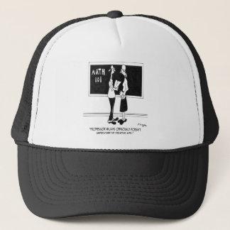 Math Cartoon 6838 Trucker Hat