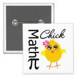 Math Chick 15 Cm Square Badge