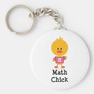 Math Chick Key Chain