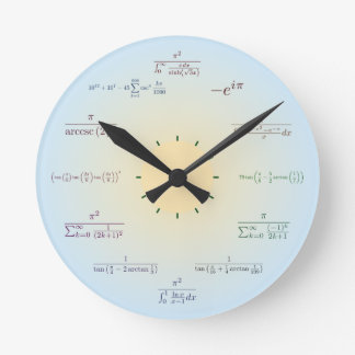 Math clock (light blue)