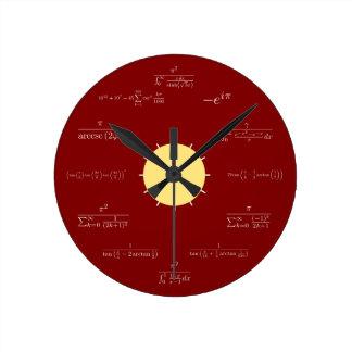 Math clock (red background)