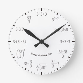 Math clock three times three