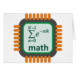 Math Computer Chip Card