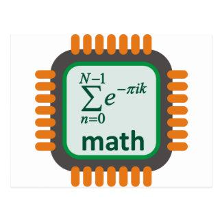 Math Computer Chip Postcard