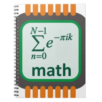Math Computer Chip Spiral Notebook