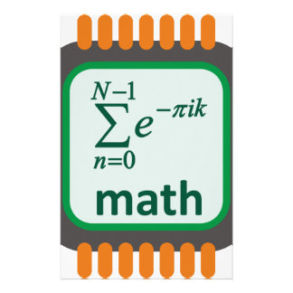 Math Computer Chip Stationery