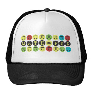 Math equals Fun - Colorful Mod Pi  - Funny Pi Gift Cap