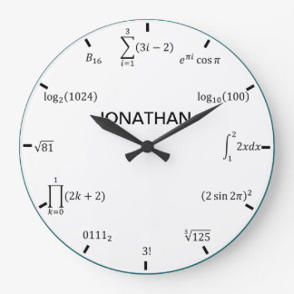 Math Equations and Notations Clocks