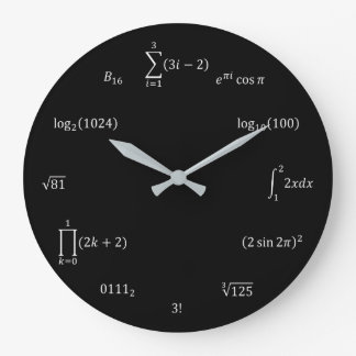 Math Equations and Notations Wall Clock
