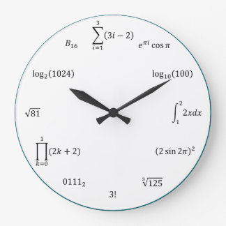 Math Equations and Notations Wall Clocks