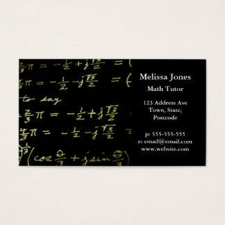 Math equations blackboard maths tutor / teacher business card