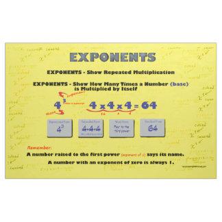 Math Exponents Bulletin Board Fabric Design